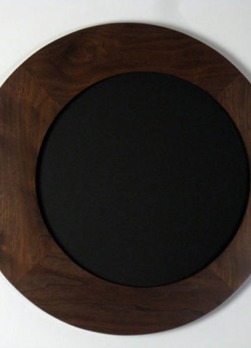 Round Picture Frames made of Walnut