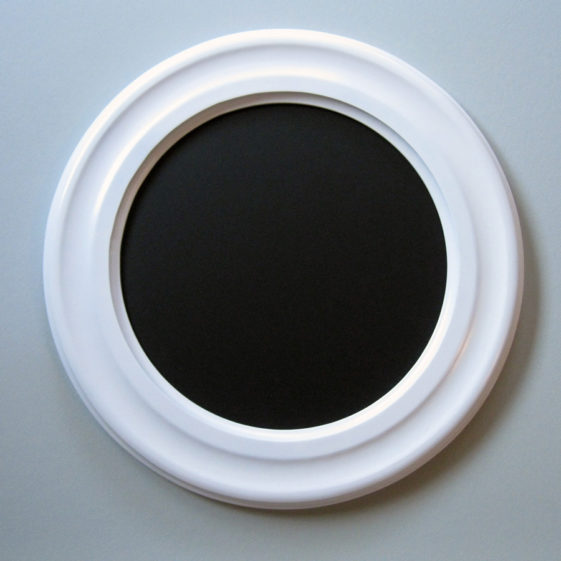 Round Picture Frames Painted Satin White