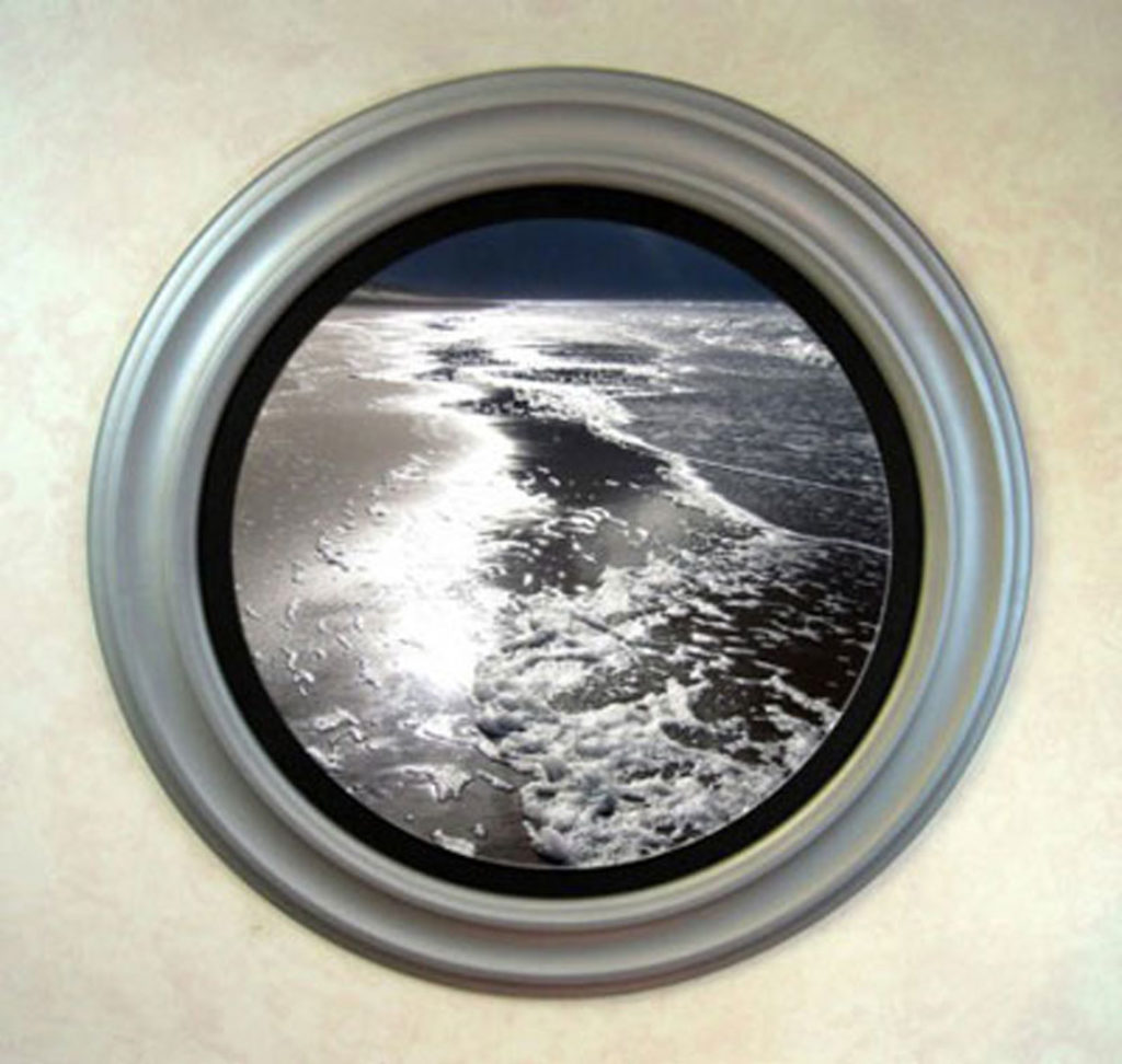 Round Picture Frames Painted Silver