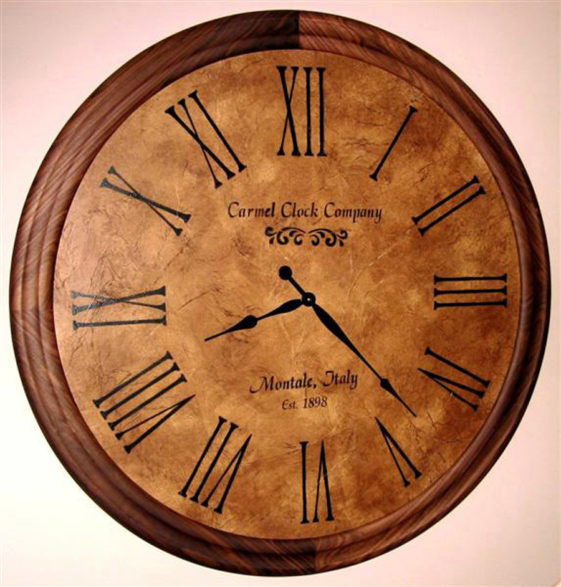Walnut Round Clock Frame