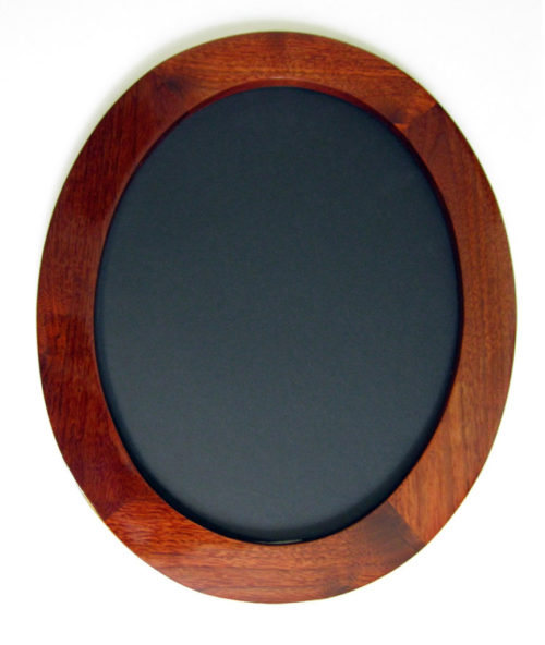 Walnut Oval Frame, Stained Red