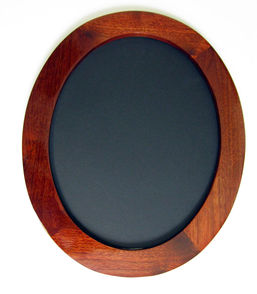 """Walnut Oval Picture Frames, shown """"Wide Gallery"""" profile, Stained Red"""