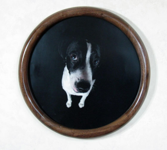 Walnut Round Picture Frame, with a Narrow Profile