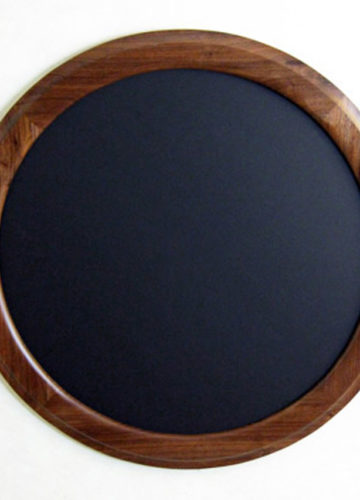 """Walnut Round Picture Frame """"Outside Cove"""""""