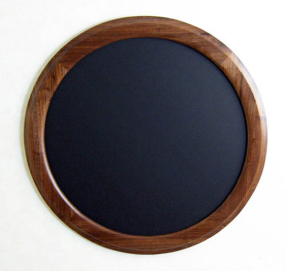 "Walnut Round Picture Frame ""Outside Cove"""
