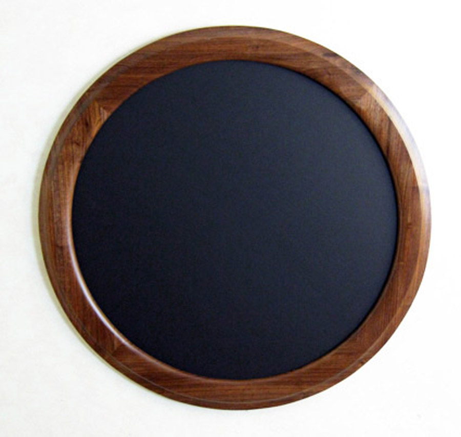 Walnut Round Picture Frame Outside