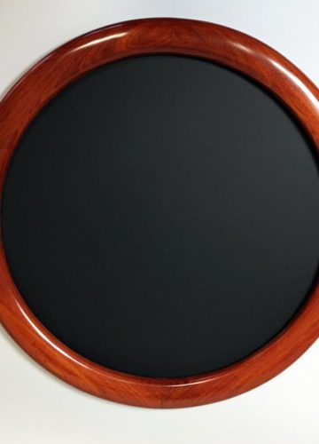 Round Frames Made of Poplar Hardwood and Stained Red
