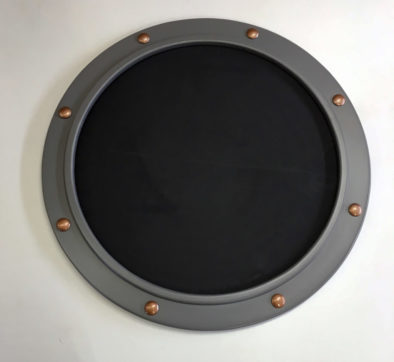 navy gray porthole frame