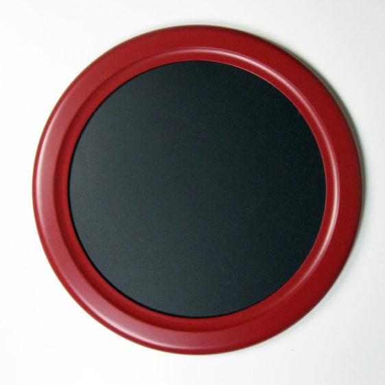 red picture frame inside cove profile