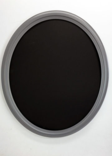 Coastal Gray Oval Picture Frame