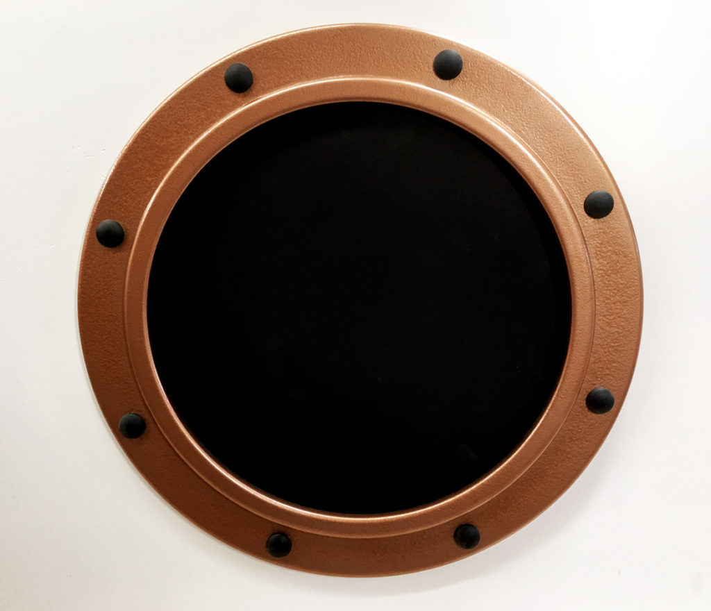 Marine themed round frame copper color