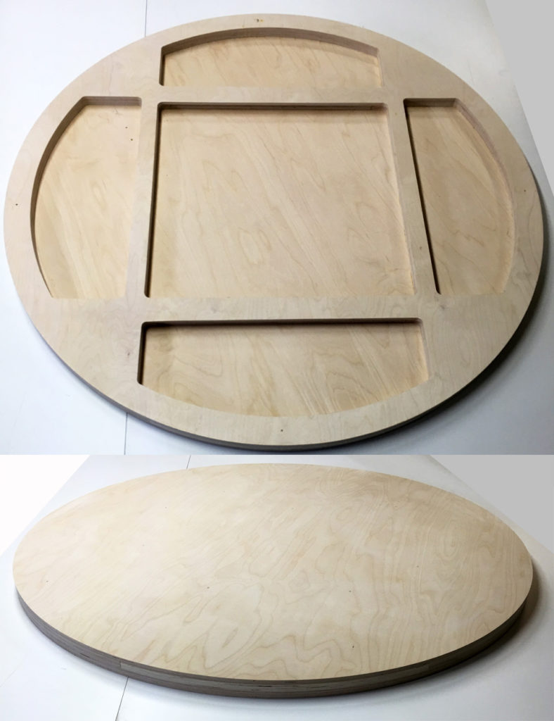 round cradled painting panels made of birch plywood