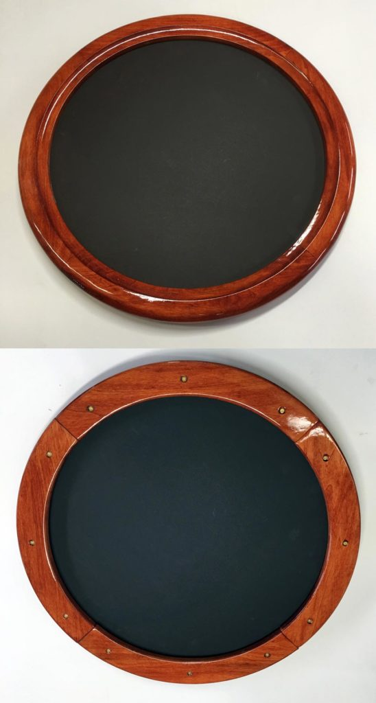 round stained glass frame merged