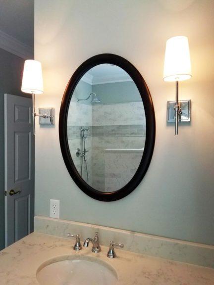 Oval Bathroom Mirror