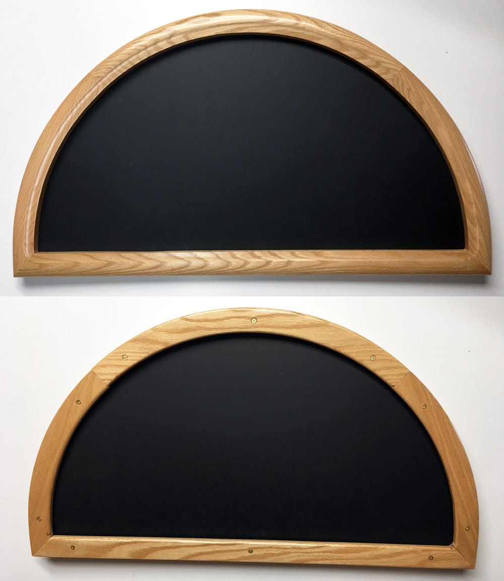 Double Sided Half Circle Frames - Crones Custom Woodworking