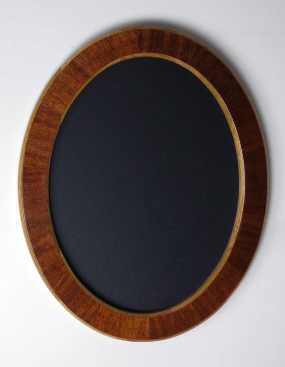 oval frame mahogany veneer overlay