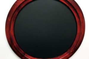 Circle wood frame deep Red color
