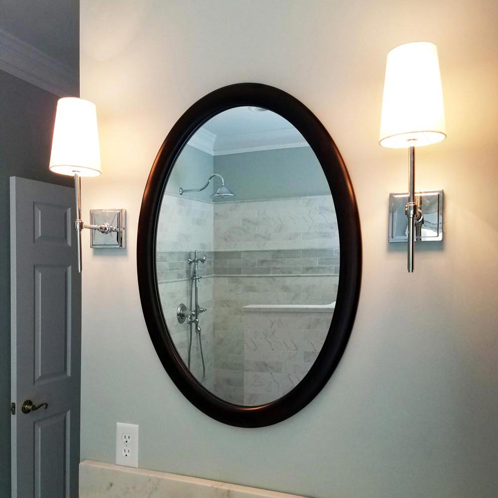 Oval frames for Bathroom Mirror