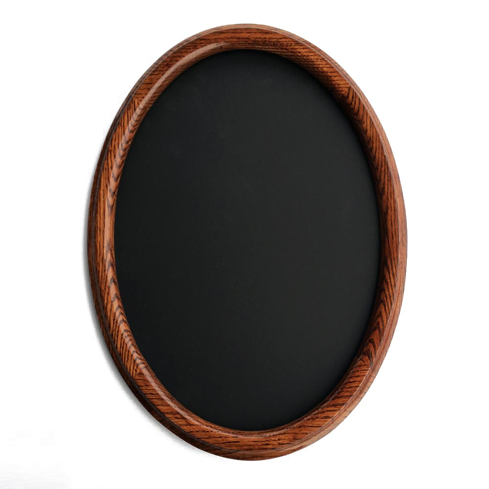 Oval Picture Frame Made of Oak and Stained Dark Walnut