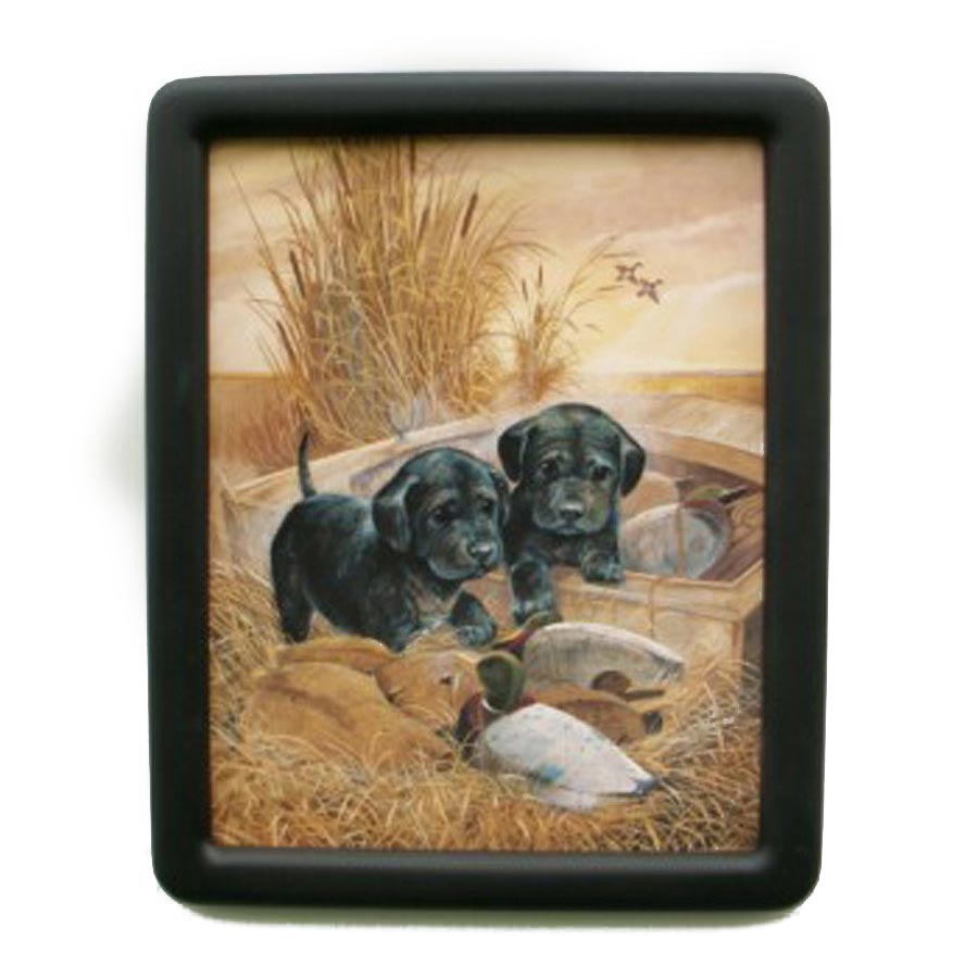 Round Corner Picture Frame Painted Flat Black