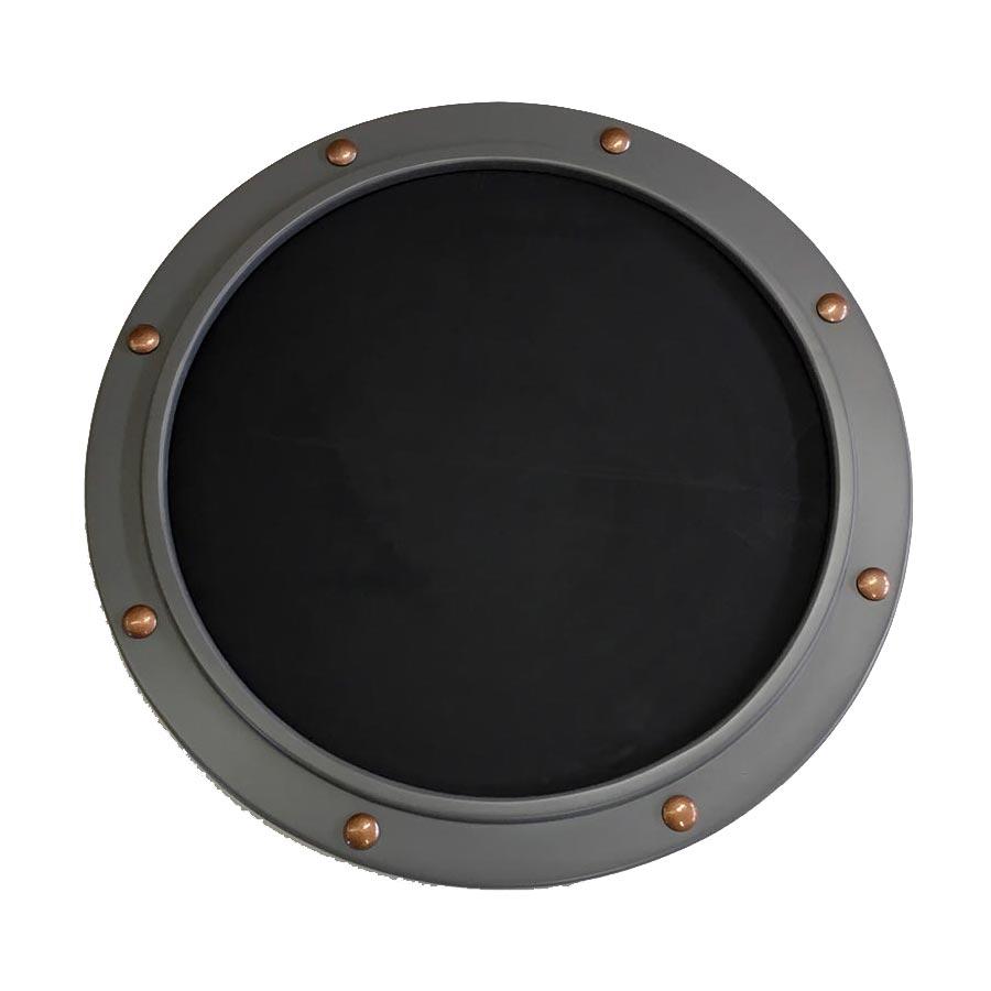 Round Porthole Style Frame, Naval Gray