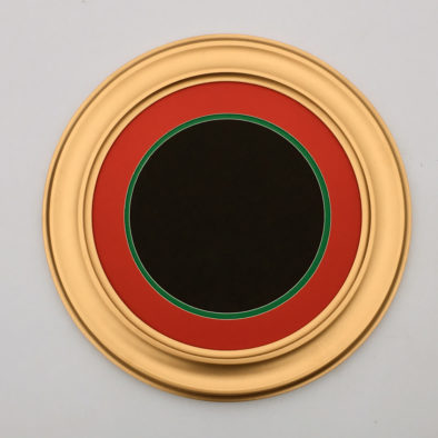 Round Frame in Gold wih Double Mat