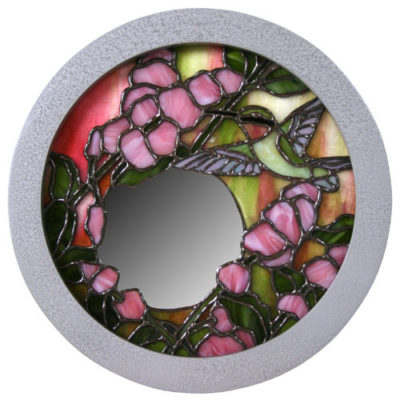 Round frame painted silver with gallery profile