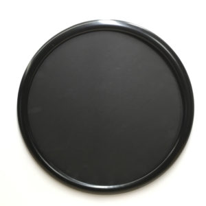 Round frame for puzzles satin black