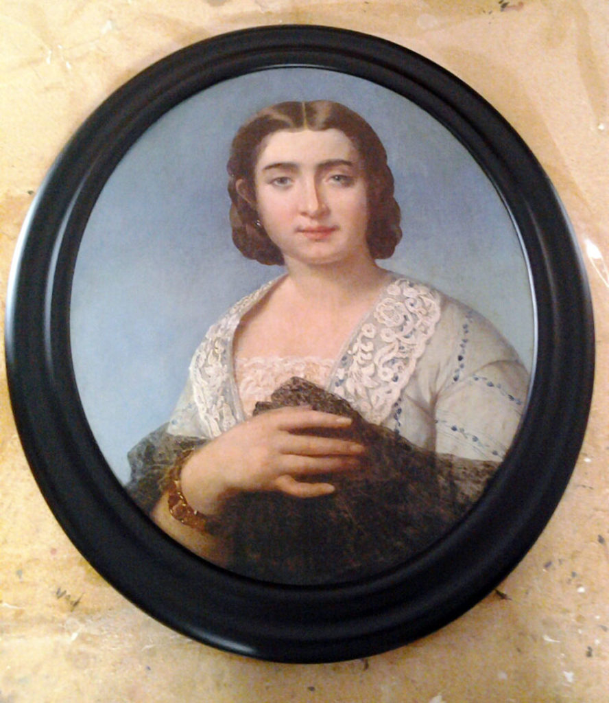 Custom Size Oval Picture Frame