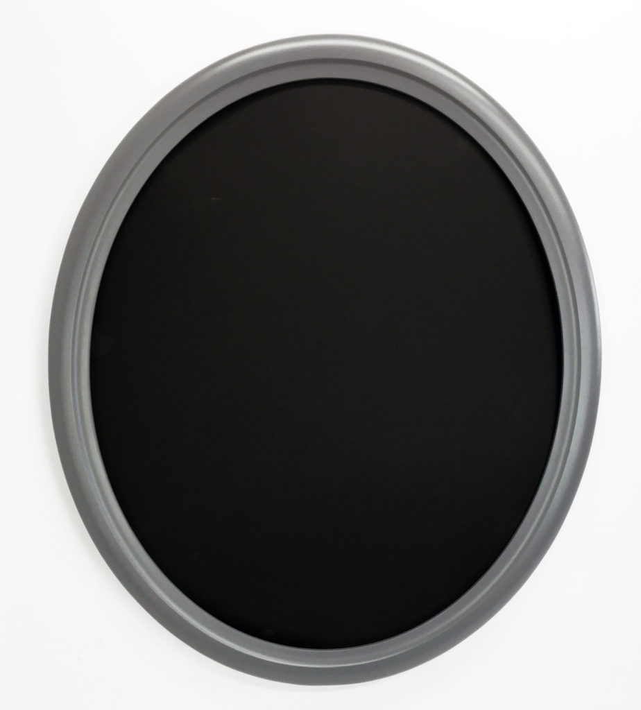 Oval Frame painted marine or battleship gray