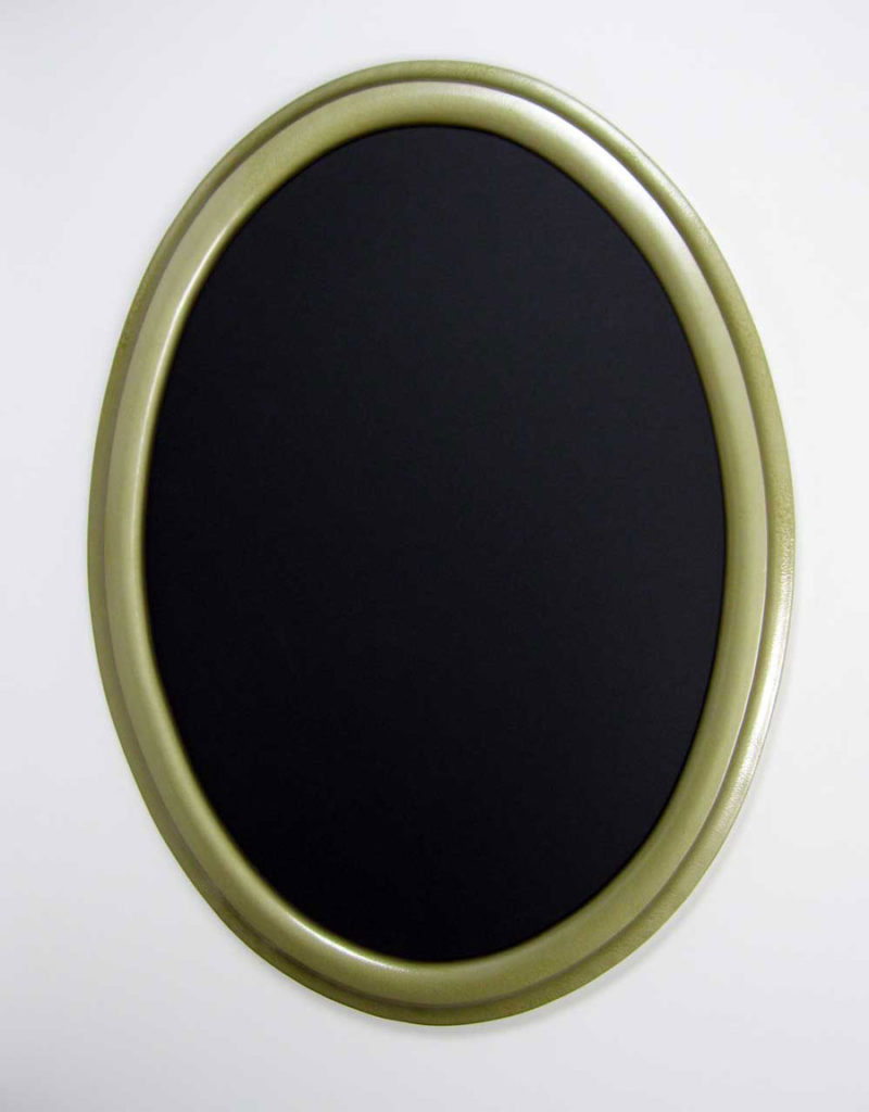 Oval picture frames painted bright gold