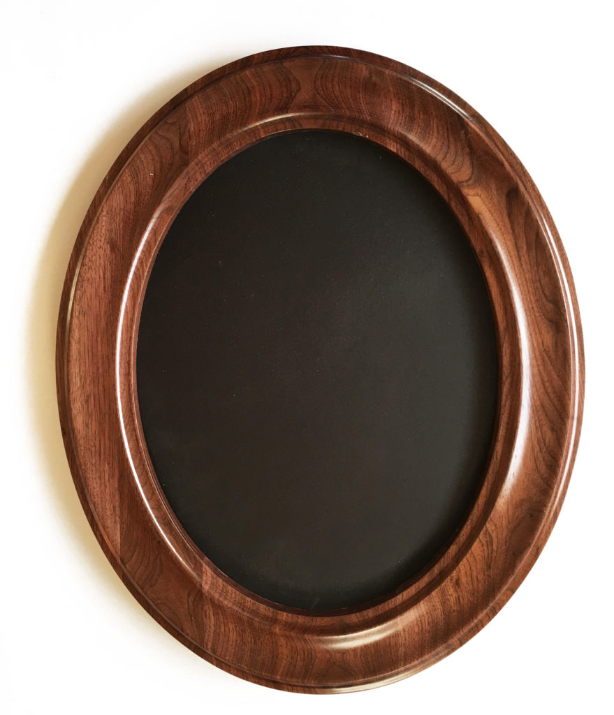Natural Walnut color oval frames with our center profile design